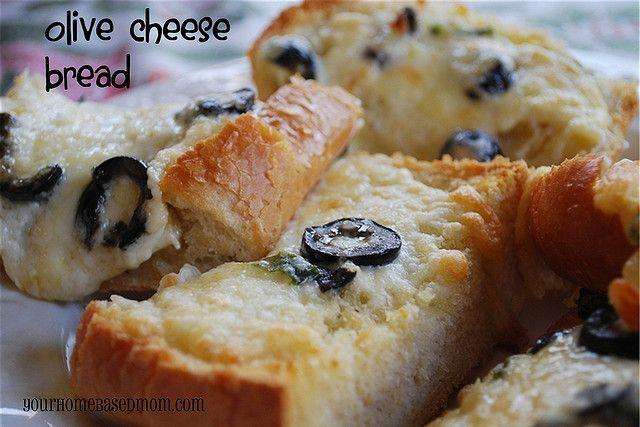 Olive Cheese Bread @yourhomebasedmom.com #bread,#recipes