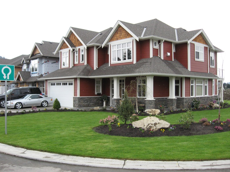 Venetian Red With White Trim Siding Home Style Pinterest