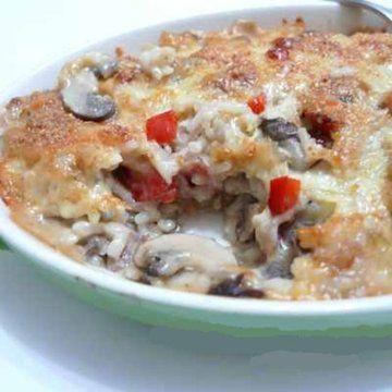 Cheesy Mushroom Baked Rice   Recipes   Pinterest