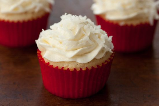 Coconut Cupcakes from Simply Recipes | f o o d | Pinterest