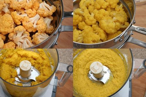 Cauliflower Puree (sub non-dairy milk and omit cheese.)