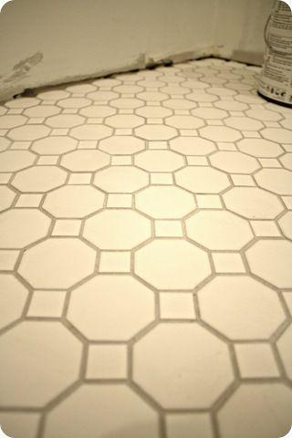 white tile with gray grout tile pinterest. Black Bedroom Furniture Sets. Home Design Ideas