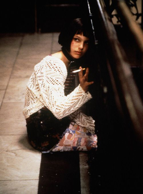 """natalie portman in the movie """"The Professional"""" one of my favorites of allll tiiiime."""