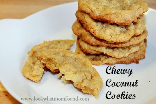 chewy coconut cookies #recipe | Recipes to Try | Pinterest