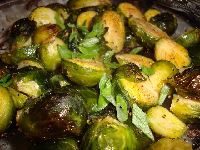 roasted brussels sprouts | Nom Nom | Pinterest