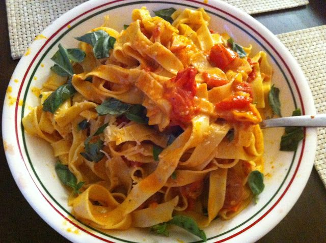 Fresh Tagliatelle With Slow Roasted Tomato Sauce | Eating In And Out