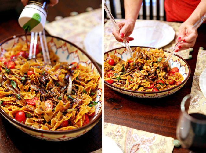 Summer Vegetable Pasta Salad // The Perch, a Polka Dot Peacock blog
