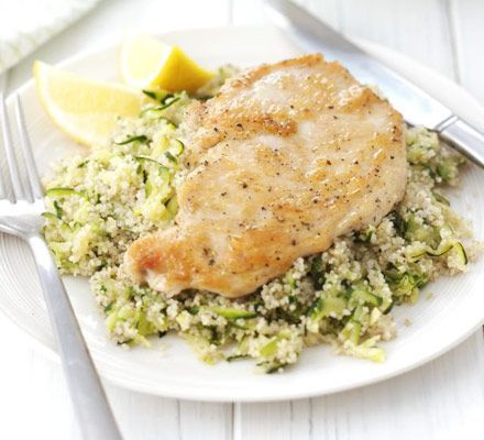 Chicken with lemon & courgette couscous | Recipe