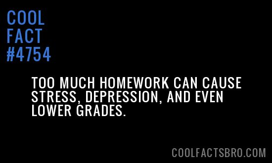 too much homework facts
