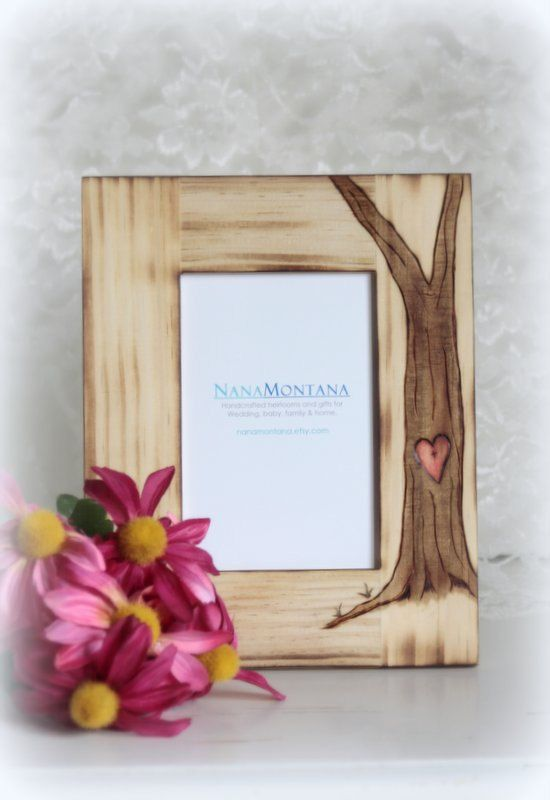 Personalized Rustic Wood Picture Frame, Wedding, Engagement, bridesma ...