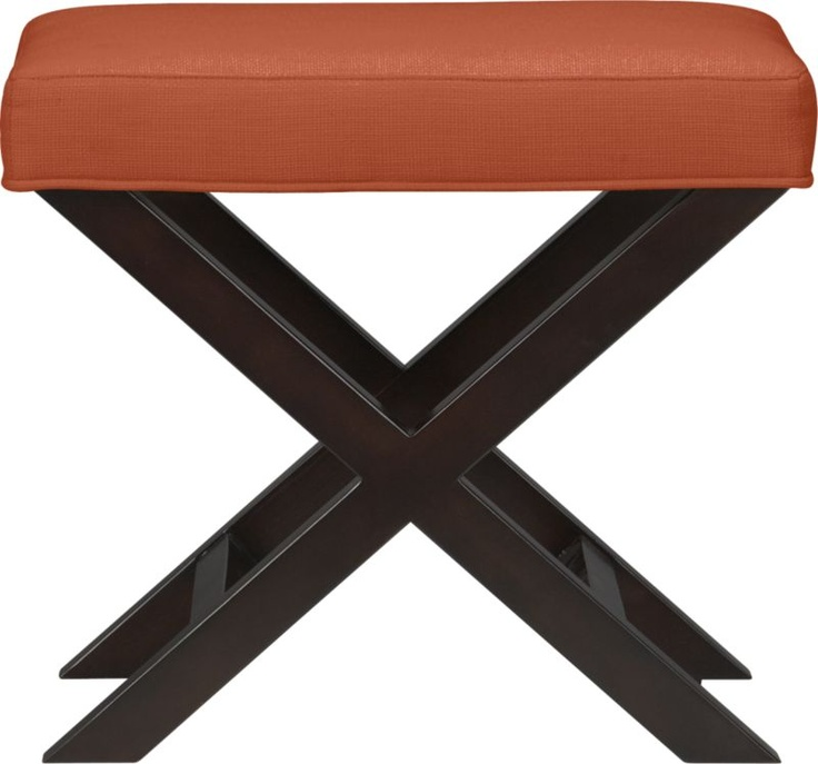 X Base Bench Vanity Stool In Persimmon Crate And Barrel