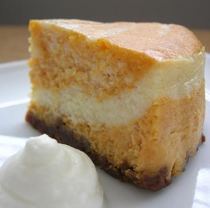 Pumpkin Swirl Cheesecake | Holiday Recipes and Ideas | Pinterest
