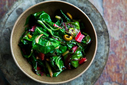 Swiss Chard with Olives: I needed a swiss chard recipe; I'm super on ...