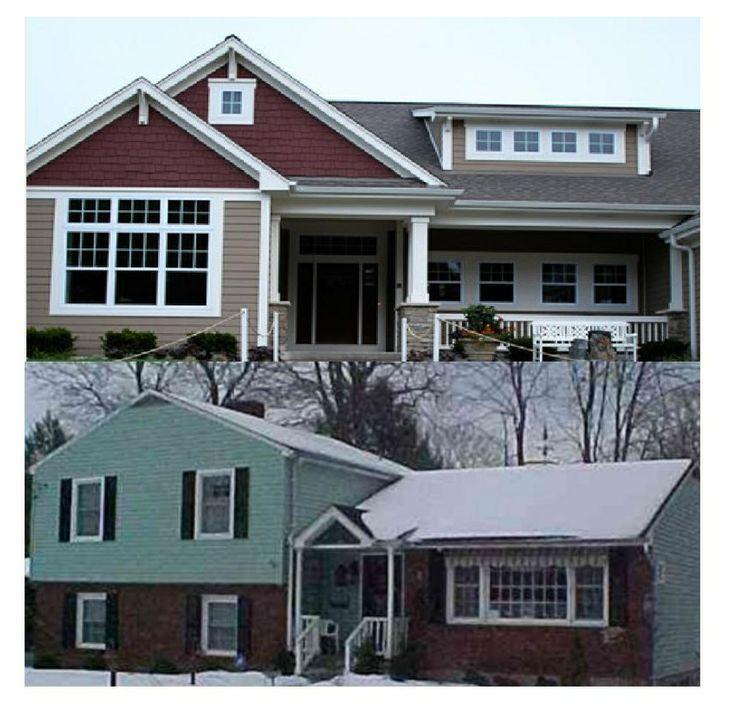 Split level remodel house plans pinterest for Split level remodel before and after