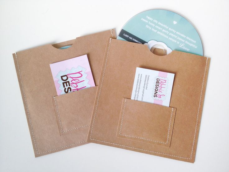 DVD Cases Sleeves Set of 20 brown DVD sleeves with