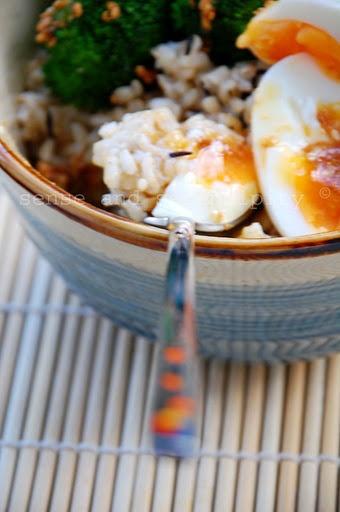 Breakfast Brown Rice bowl   EATS: Pescetarian before 6   Pinterest