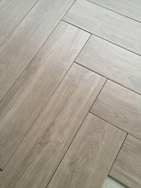 Herringbone Pattern Tile Floor Details Black Walnut