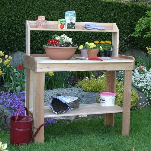 Outdoor living today potting bench Outdoor potting bench