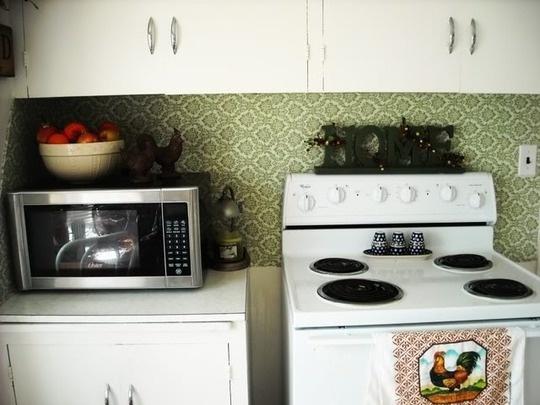 diy removable fabric backsplash for rental kitchens home