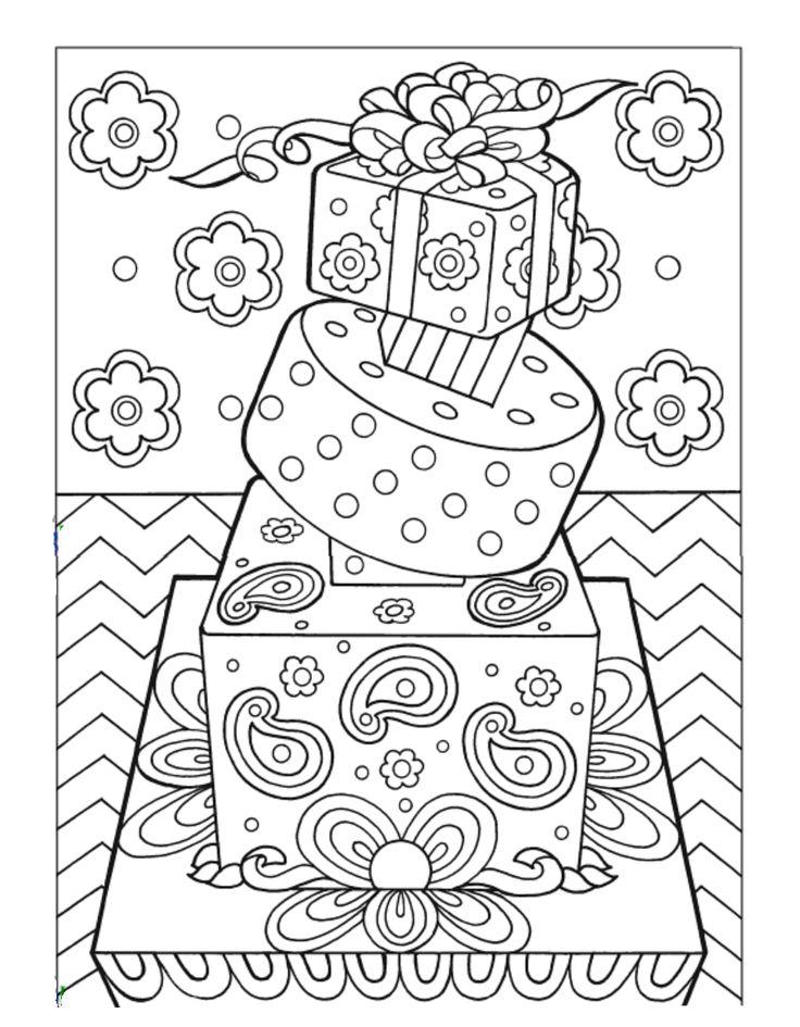 Dessert Coloring Pages - Kidsuki