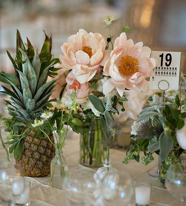 Pineapples steal the show in this tablescape. Styling: Saipua Photo: Just & Mary