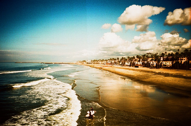 lomography beach, sky. the clouds