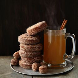 Spiced Cider Doughnuts - bring the cider mill home with this trademark ...