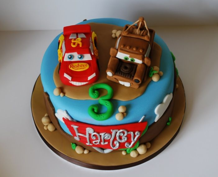 Cars Lightning McQueen And Mater Cake My Cakes Pinterest