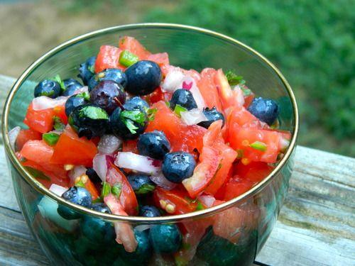 Watermelon Blueberry Salsa   The Collegiate Vegan