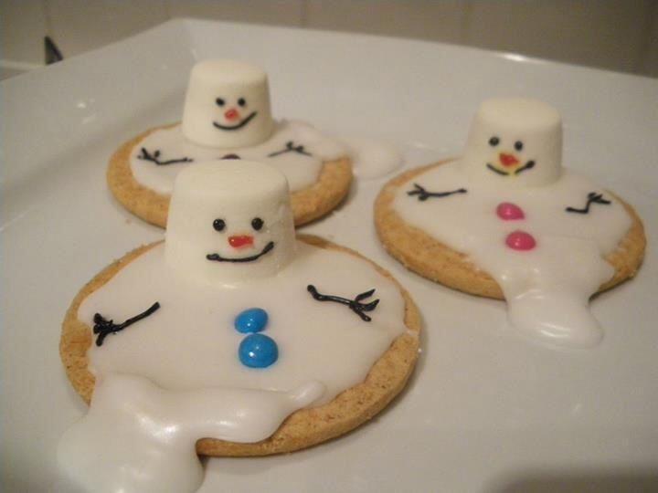 Melted snowman biscuits | school ideas | Pinterest