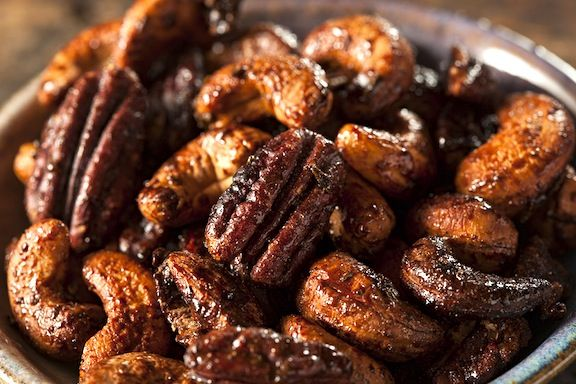 Sweet and Spiced Glazed Nuts   Favorite Recipes   Pinterest