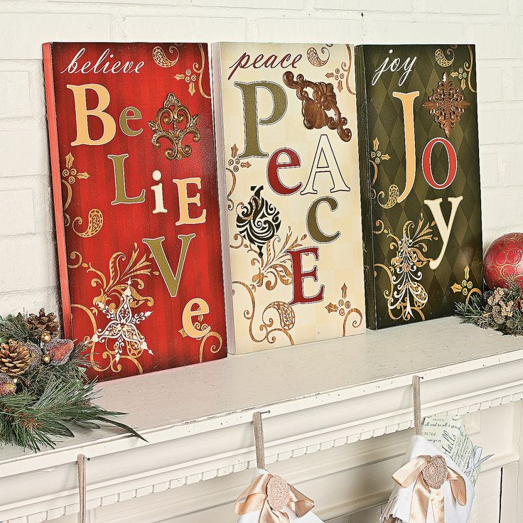 Holiday wall signs christmas pinterest - Christmas wall decorations ...