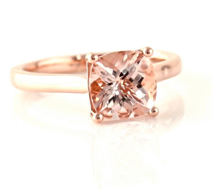 rose gold rings morganite rose gold rings