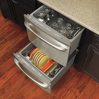 Get a drawer dishwasher if you frequently do small loads run just one drawer at a time to use - Small dishwashers for small spaces pict ...
