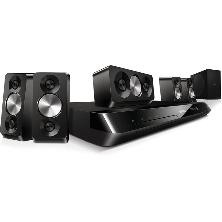 Home Cinema com DVD - 800W, HDMI, DIVX Ultra, USB, Karaokê, Wi-Fi READY, Wireless Speaker READY - HTS5533/78 - Philips