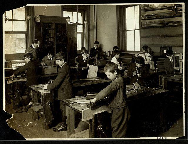 Society of New York, Sullivan Street Industrial School, woodworking ...