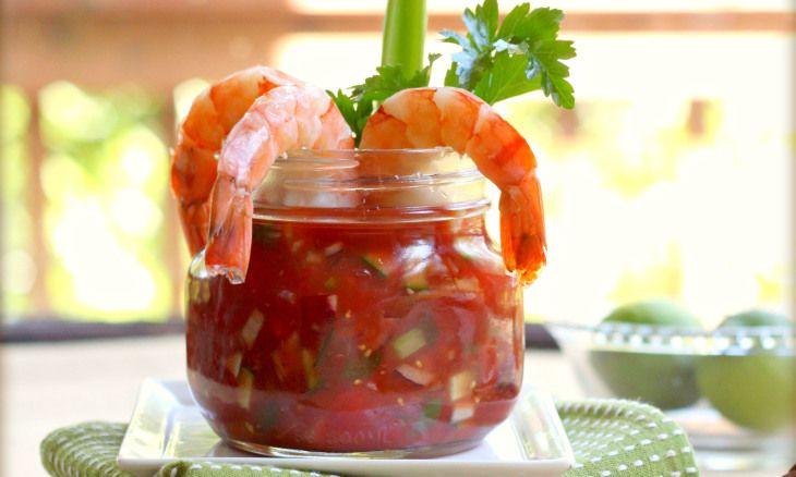 Bloody Mary Gazpacho with Shrimp | Recipe