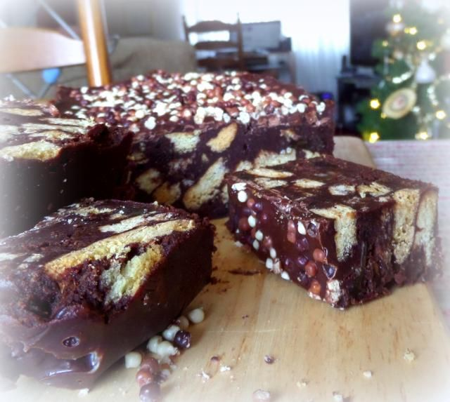 Chocolate Tiffin Cake from The English Kitchen ~ *I'd omit the orange ...