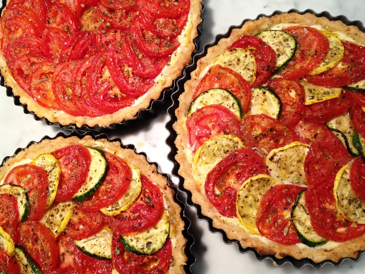 Summer Tomato and Squash Tarts   Savory Tarts   Pinterest
