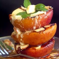Grilled Peaches with Lemon Yogurt & Honey.... enjoying the fruits of ...