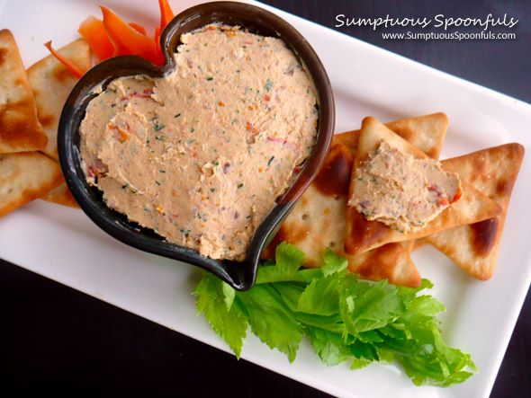 Herbed Bacon Sundried Tomato Cheese Spread ~ Sumptuous Spoonfuls ...