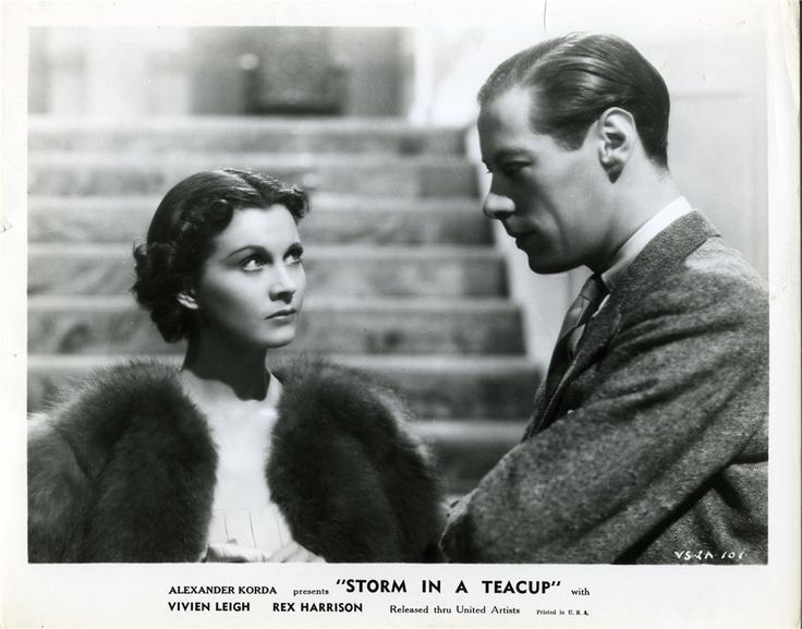 Vivien Leigh and Rex Harrison in Storm in a Teacup