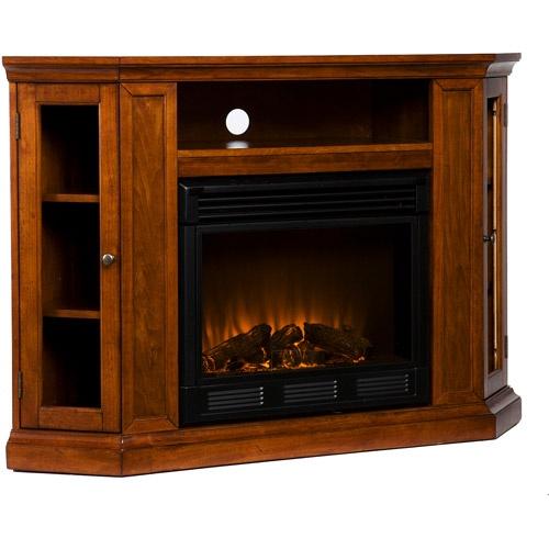 Silverado Fireplace Media Console Mahogany Box 1 Of 2