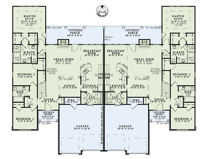 24 cool multi family house plans duplex home building