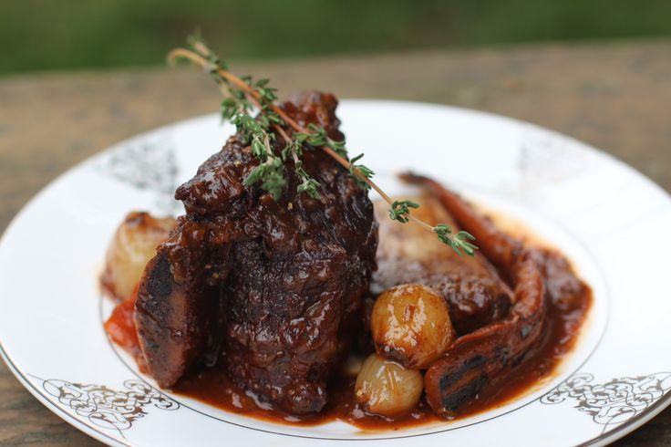 off-the-bone braised beef short ribs with a rich cabernet-based sauce ...
