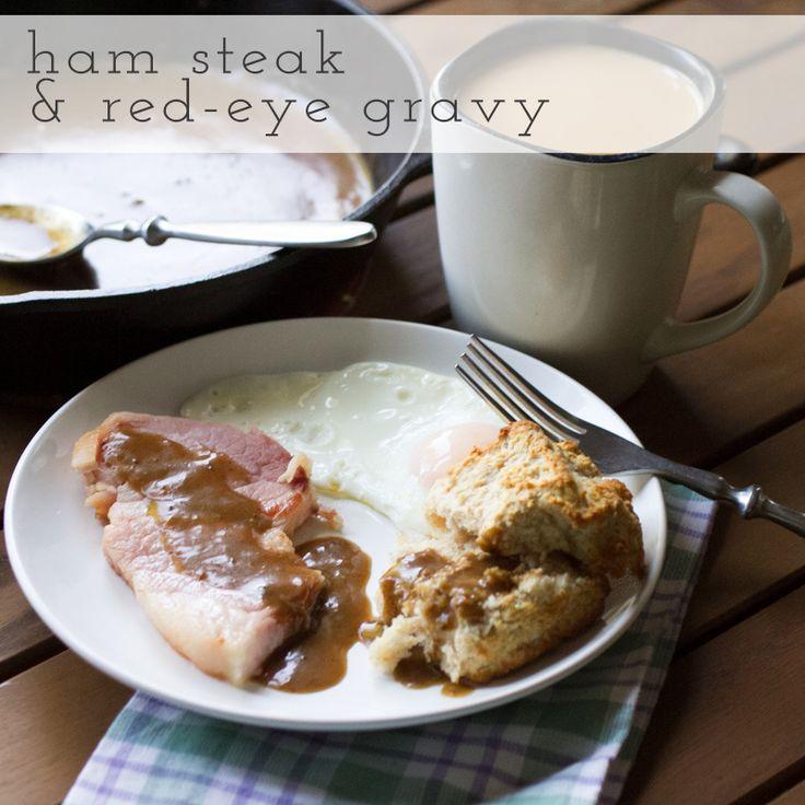ham and red-eye gravy // chattavore | Breakfast | Pinterest