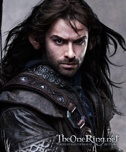 Aidan Turner as Kili in The Hobbit.