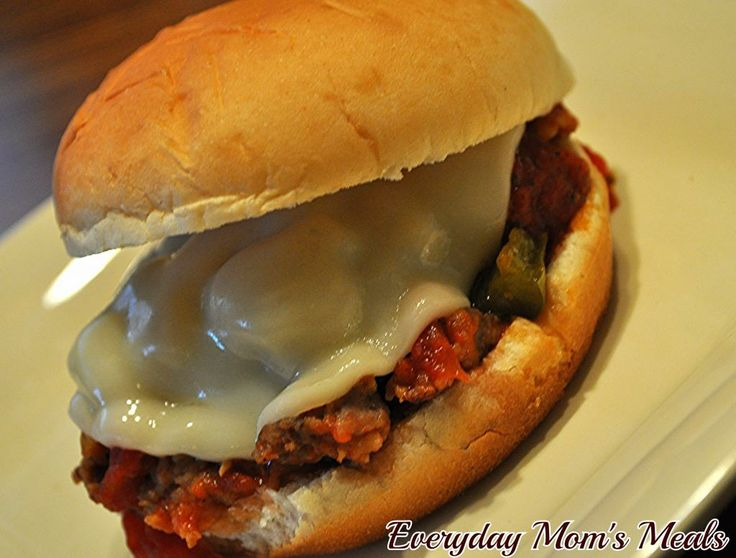 Crock Pot Italian Sloppy Joes~ Slow cooked all day, this simple ...