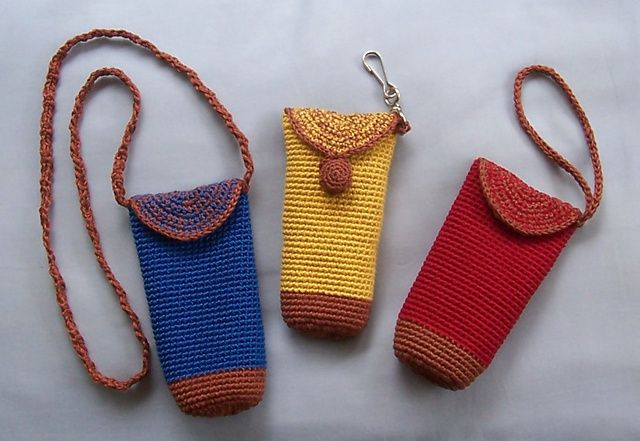 Crochet Cell Phone Purse : Chic Cell Phone Purses pattern by Mimi Alelis