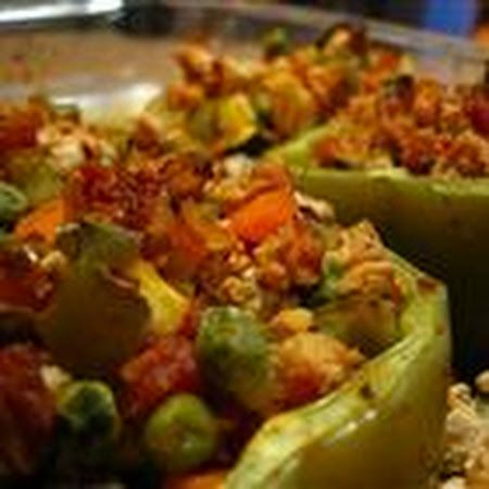 Ground Turkey Stuffed Bell Peppers | Food & Recipes | Pinterest
